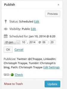 Scheduling content in WordPress