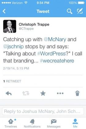 Digital branding on Twitter