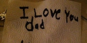 Love you dad note