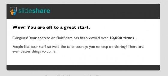 10,000 views on slideshare