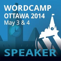 Speaking at WordCamp Ottawa 2014