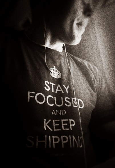 Startup Vitamins shirt: Stay Focused and Keep Calm