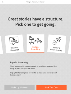 Download the Adobe Voice app for your iPad to tell stories