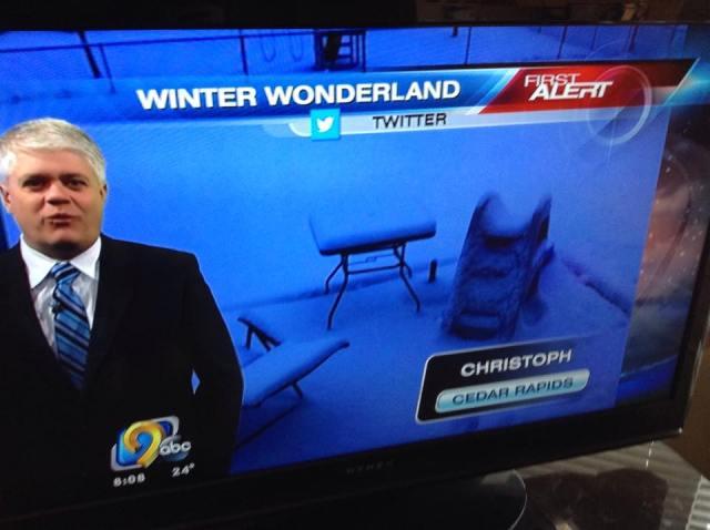 snow photo on the tv news