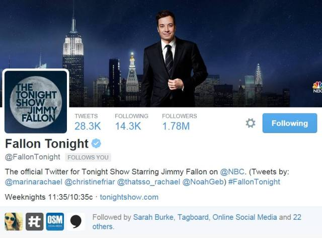 Jimmy Fallon on Twitter