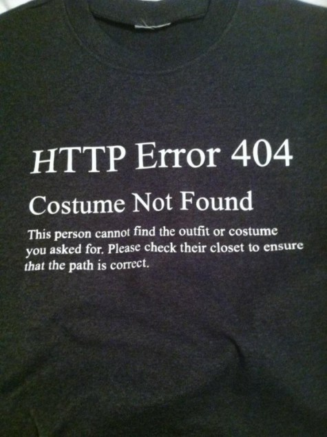 halloween costumes for marketers: 404
