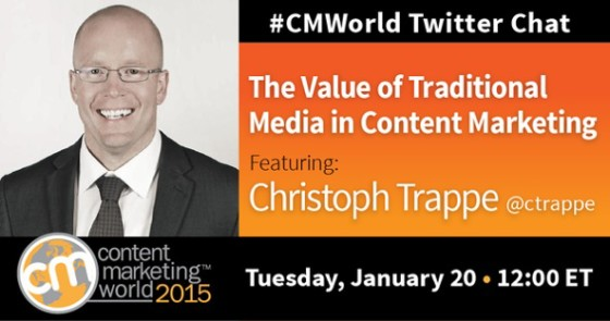 Christoph Trappe on Content Marketing World Chat