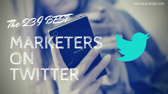 Follow me! Glad to be listed as No. 3 content marketing Twitter account to follow in 2016