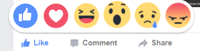 "UPDATED: My reaction to Facebook ""reaction buttons"": Don't overthink 'em!"