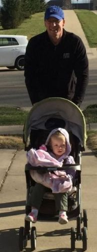 walking with a stroller