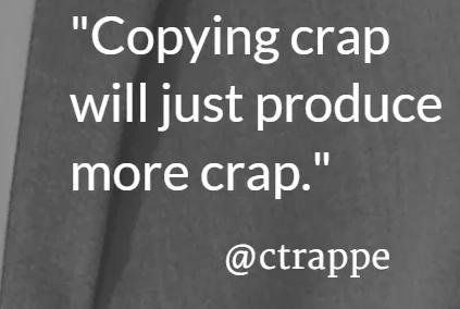 What's crap content?