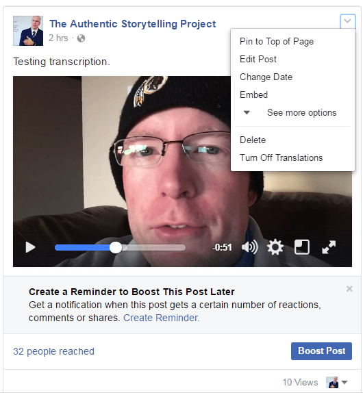 facebook video captions 2