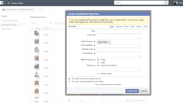facebook button add