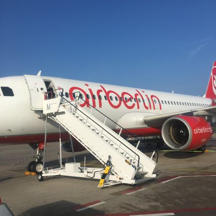 When I flew Air Berlin right before they shut down …..