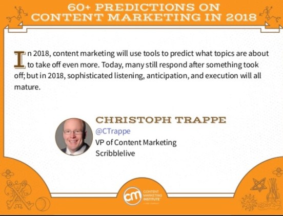 My 2018 content marketing prediction: More predictive analysis content!