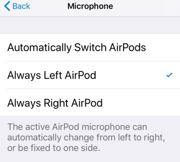 Airpods audio settings