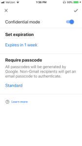 gmail options