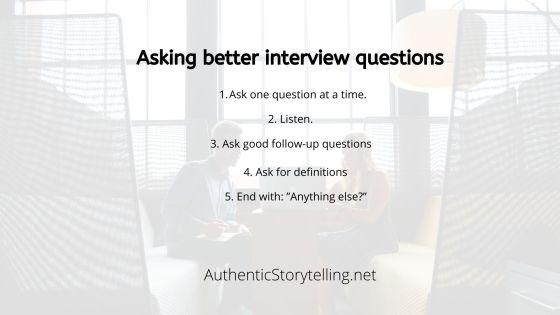 Tips for better interviews