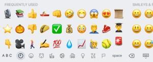 Emojis in marketing iOS