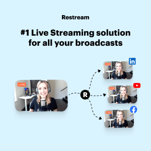 livestream to 30 channels with Restream