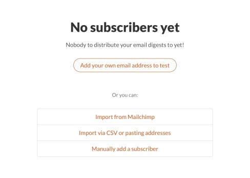 Twitter newsletter subscribers