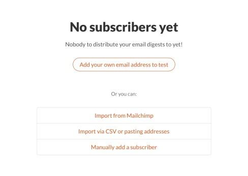 Twitter newsletter subscribers