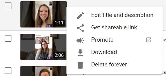 download video in youtube account