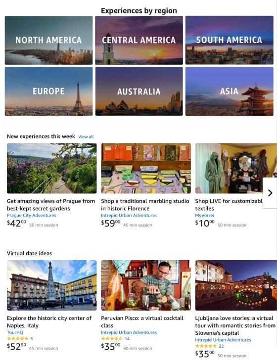 Amazon explore by region