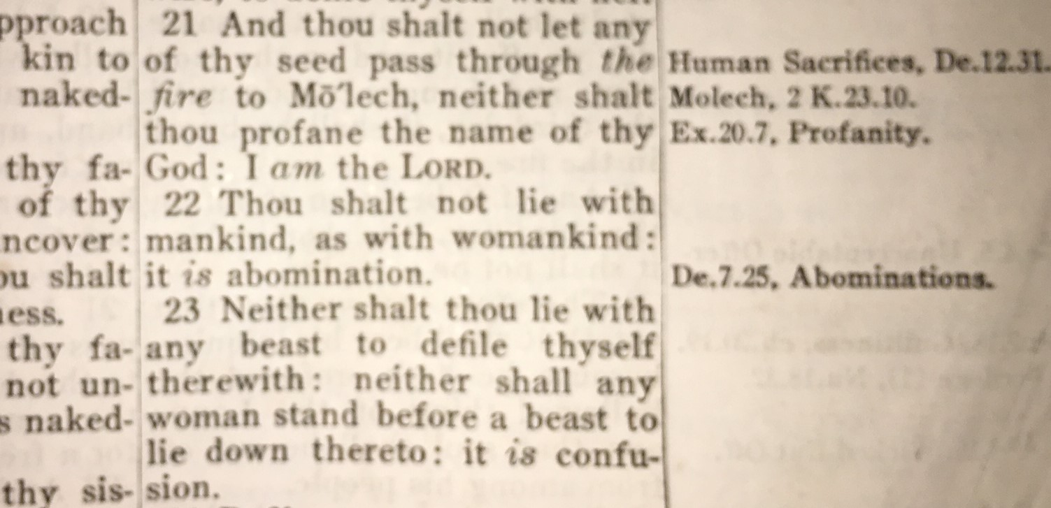 Abomination to god homosexuality new testament