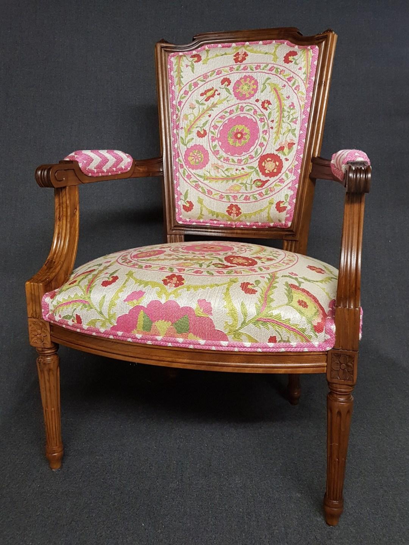 Restauration fauteuil et Cabriolet Louis XVI