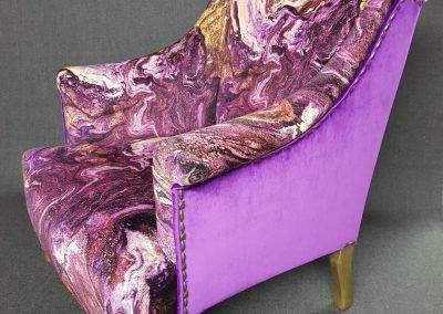 Carte blanche pour un fauteuil Napoléon III