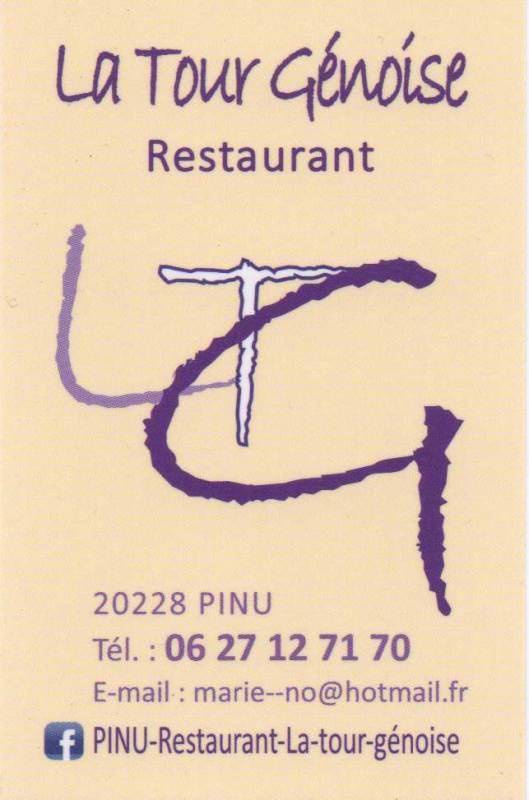 Restaurant La Tour Genoise Pino Corse