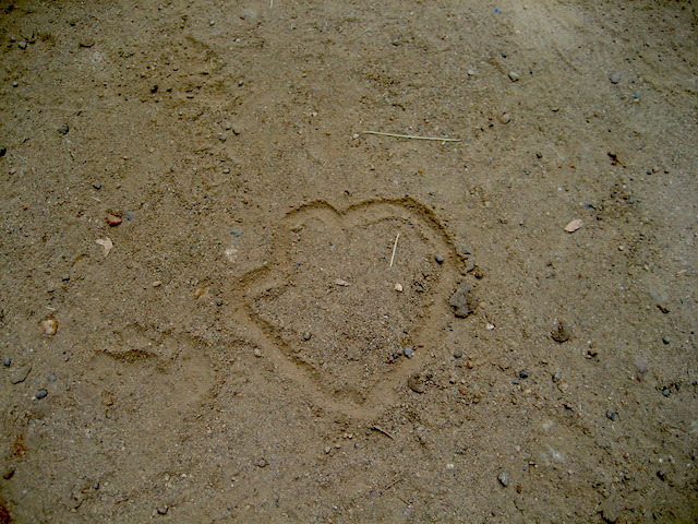 Heart symbol drawn by my daughter