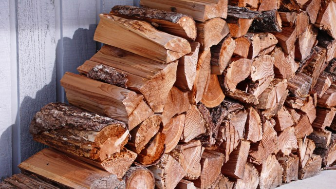 Stacked Fire Wood