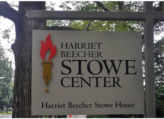 Harriet Beecher Stowe Center Sign © Author Adventures