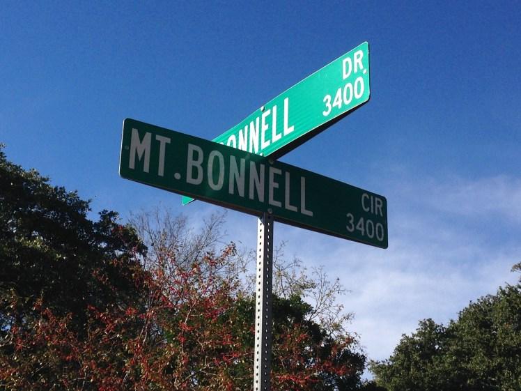 Mt. Bonnell street sign (Michener, TX)