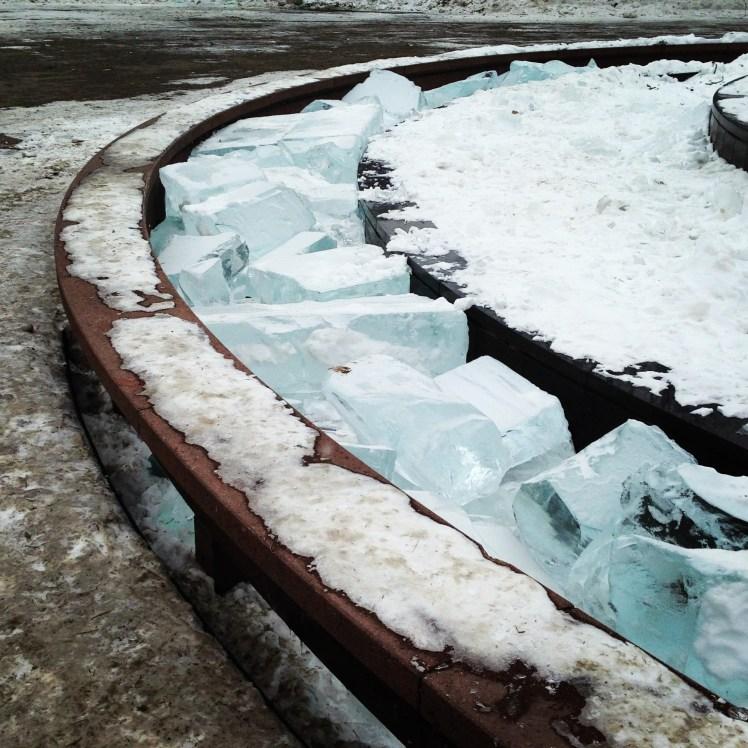 St. Paul frozen fountain