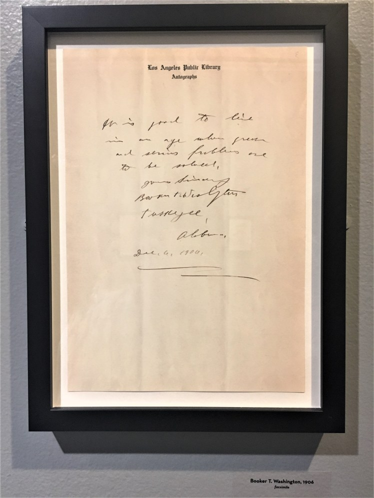 Booker T. Washington Letter