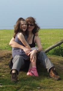 The author Debbie Young with her daughter