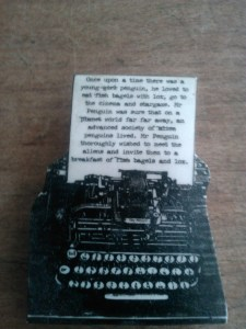 Brooch in the form of a typewriter