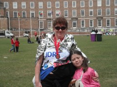 Debbie Young after the Bristol 10k Race 2011