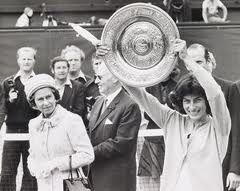 photo of Virginia Wade, Wimbledon women's singles winner 1977