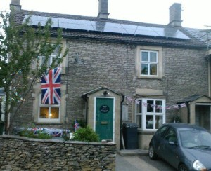 my house decorated for the Jubilee weekend