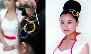Image of one of three official Olympic hairstyles at Beijing 2008 Olympics