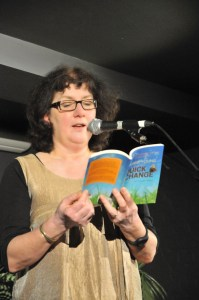 Photo of Debbie Young reading from Quick Change