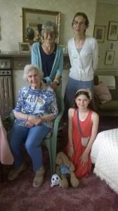 More formal photo of Nina, Thelma, Mandy and Laura