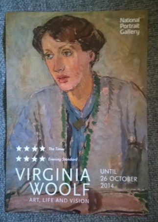 Poster for Virginia Woold exhibition