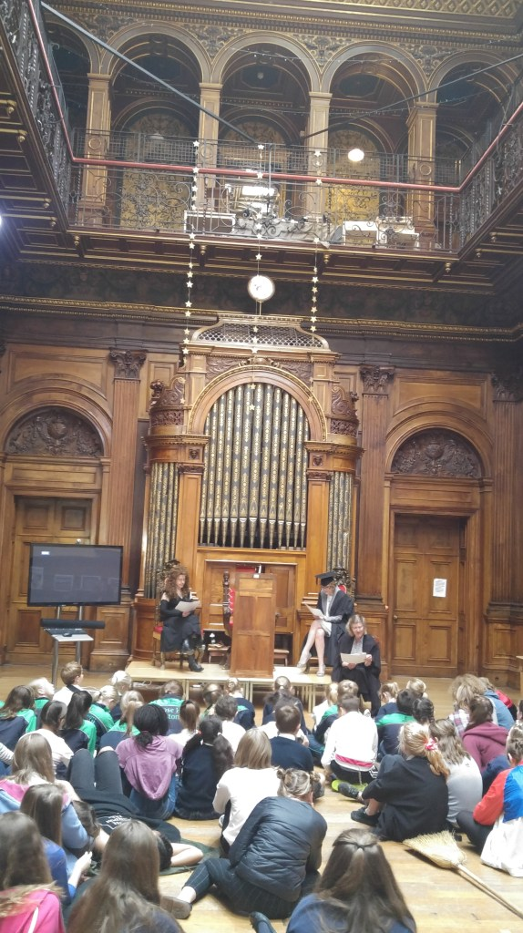 picture of event taking place in the Great Hall
