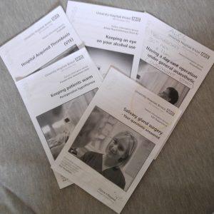 hospital leaflets