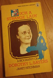 "Cover of Sayers biography, ""Such a Strange Lady"""